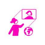 women working remotely icon